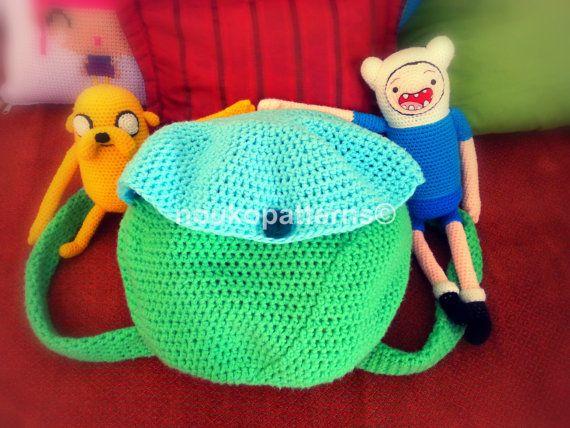Finn's Backpack Adventure Time Crochet by NoukoPatterns on Etsy