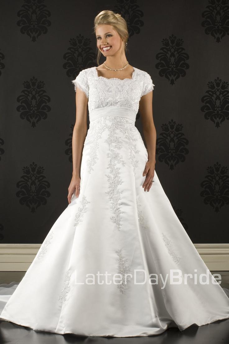 Modest Wedding Dress Daria Latterdaybride Amp Prom Lds