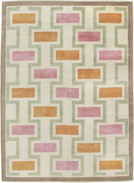 pink and orange rug on neutral base melissa wyndham
