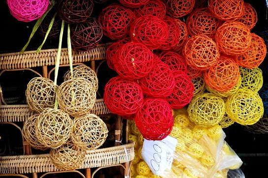 DIY rattan balls. Great to hang for wedding. Good way to save money on a DIY project.
