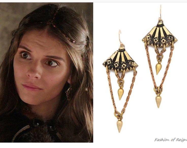 Lady Kenna from the CW's Reign wearing the limited edition Holiday Earrings