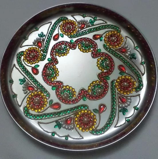 17 best images about aarthi plates on pinterest rakhi for Aarti thali decoration designs