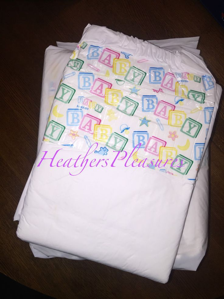 ABDL Adult Diapers Diaper 8 Bambino Classico Size L Large Baby Block ...