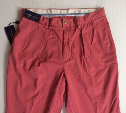 Polo-Ralph-Lauren-Men-Classic-Pleated-Fit-Chino-Oxford-Twill-Colored-Pants-Red