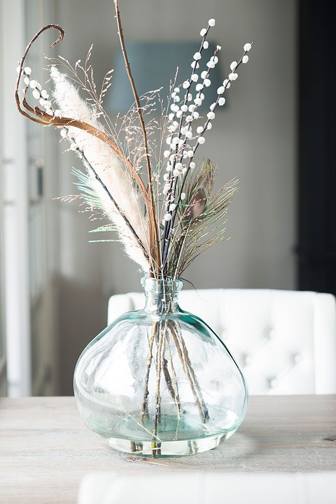 Feathers in a vase