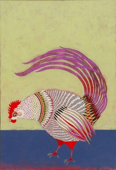 chicken art.