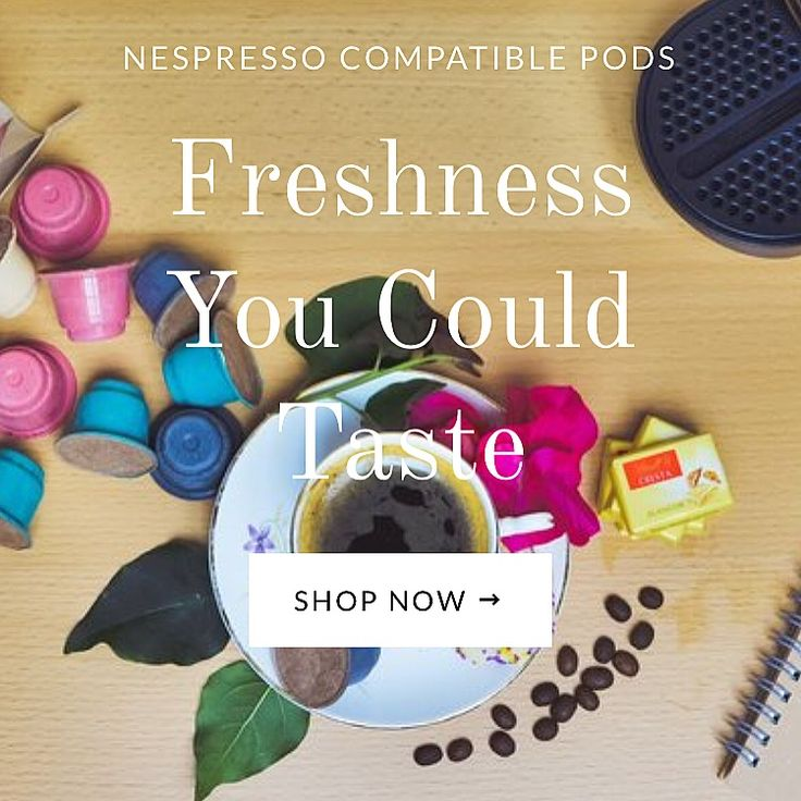 Peas&Pods biodegradable nespresso capsules with organic coffee