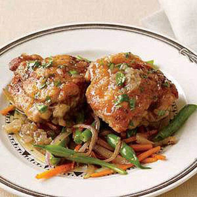 Beer-Braised Chicken Thighs | Rachael Ray Mag