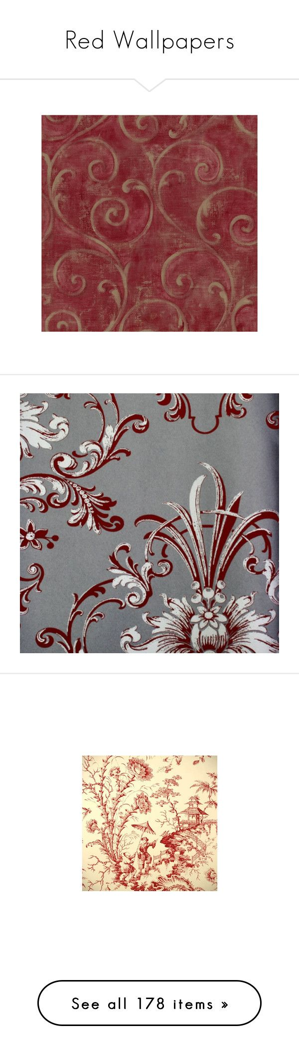 """Red Wallpapers"" by lailoooo ❤ liked on Polyvore featuring backgrounds, home, home decor, wallpaper, red wallpaper, american home decor, painted wallpaper, red textured wallpaper, york wallcoverings and dark red wallpaper"