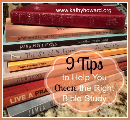 The abundance of Bible study material can make selecting the right study a daunting task. Here are 9 tips to help you choose the right one for your group.