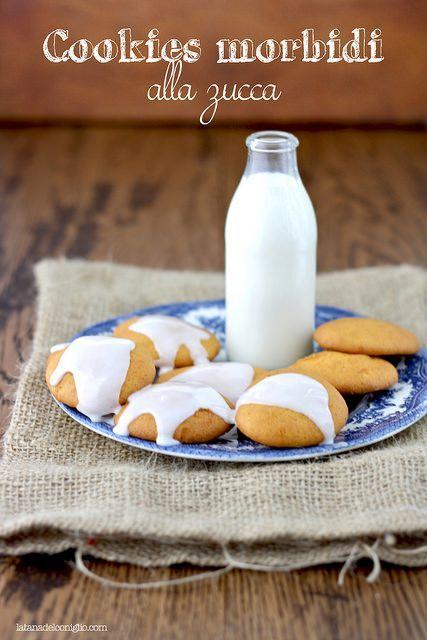 Pumpkin soft cookies - cookies morbidi alla zucca by La tana del coniglio