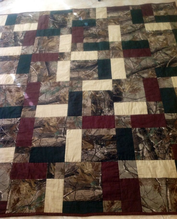 camouflage quilts | Camo Queen sized quilt for my dad!!!