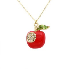 """**Coupon Code!** This darling necklace is only $14.60, PLUS get 10% off your entire order & FREE shipping with discount code """"SAVE10"""" at checkout! #necklace #apple #teacher #giftFree Ships, Apples Necklaces, Teachers Gift, Pendants Necklaces, Teachers Appreciation, Apples Pendants, Www Mycentsofstyle Com, Codes Save10, Teachers Fashion"""