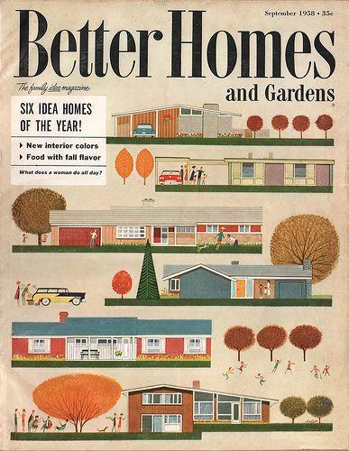 Better Homes & Gardens - Sept. 1958 by wardomatic, via FlickrMid Century Modern, House Design, Home Interiors, Interiors Design, Living Room, Modern Interiors, Modern House, Design Home, Midcentury