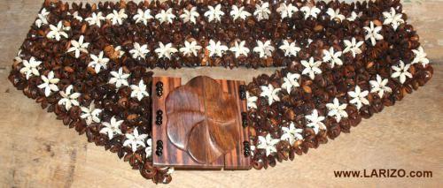 Sabuk Batok Kelapa Motif Bunga | TradMix