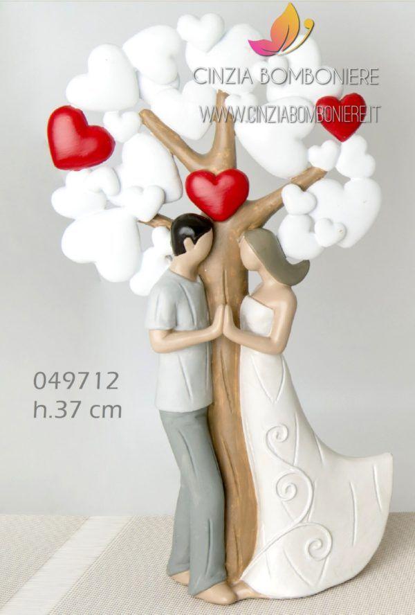 Bomboniere Simpatiche Matrimonio.Sposini Albero Cuori Romantici Grandi Cb049712 Con Immagini