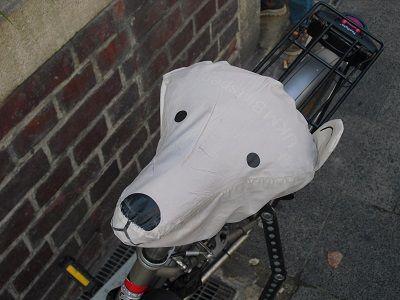 Sattel mit Gesicht. #Münster #Fahrrad
