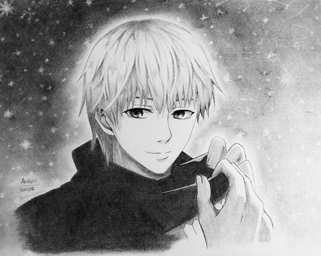 Kaneki Ken in night of sparkling stars ✨ this is my second fanart of him ❤️ #kaneki #tokyoghoul #kanekiken #金木研 #東京喰種トーキョーグール