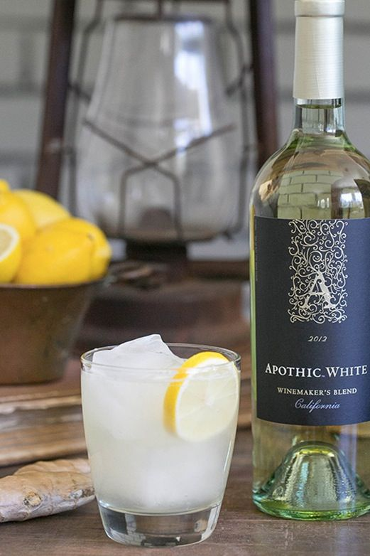 Ginger & Lemon White wine cocktail: Sangria Is Out, Wine Cocktails Are In via @PureWow
