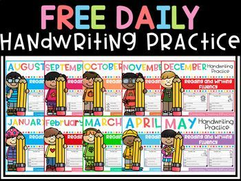 These are FREE samples from my Daily Handwriting Practice & D'Nealian Handwriting Practice. This set includes:*10 Handwriting practice pages*10 D'Nealian handwriting practice pagesGRAB THE BUNDLE HERE:Daily Handwriting Practice (THE BUNDLE)D'Nealian Daily Handwriting Practice (GROWING BUNDLE) You may also be interested in:Reading Comprehension for Beginning Readers(Growing Bundle)Reading Fluency and Comprehension (The Bundle)I would appreciate your feedback!*******************************...