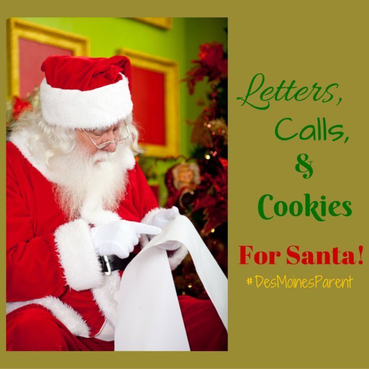 A list of communities offering letters from Santa, phone calls from Santa, and bake cookies for Santa!