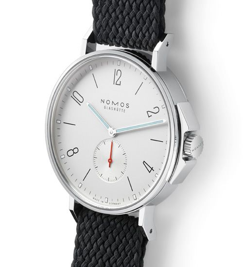 NOMOS Ahoi. fresh take on the diver watch. clean and minimal.
