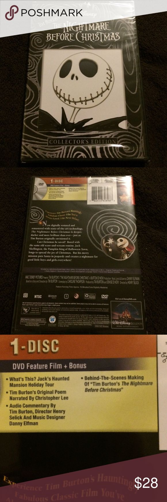 The nightmare before Christmas DVD Collectors edition lots of fun bonuses and never opened brand new!!! walt disney  Other