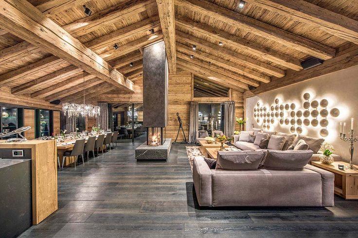 Luxuriöses Chalet in den Schweizer Alpen bietet Wintersportort im Winter