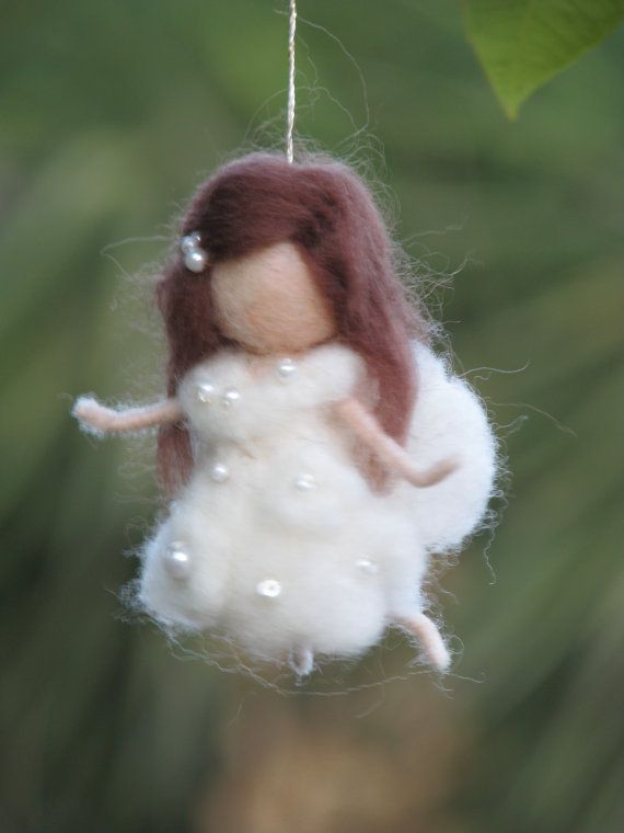Needle felted fairy Christmas ornament home decor by Made4uByMagic, $26.00