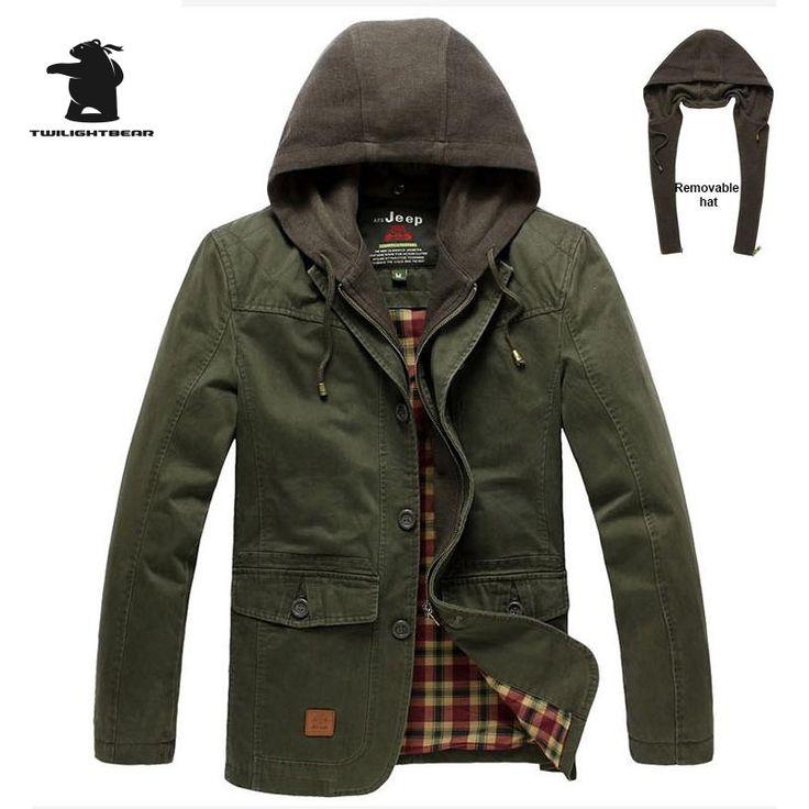 Brand Men's Casual Blazers Hooder Fashion Military High Quality Plus Size 100% Cotton Men Casual Leisure Suit Coat D16E3305 #Affiliate