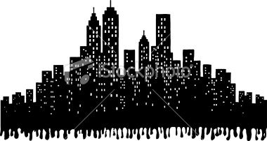 Grunge city skyline silhouette illustration royalty free stock vector art illustration crosses