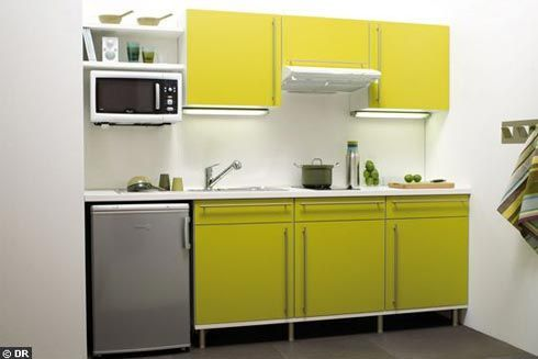 Low Cost Kitchen with Stunning Furniture : Cute Green Kitchen With Minimalist Wardrobe And Cabinet Decorations