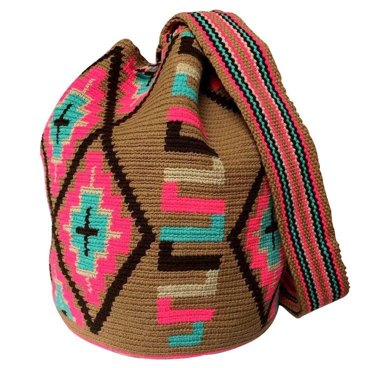 $80.00 Retail Price LARGE Mochila Wayuu Bag | RETAIL + WHOLESALE | Handmade and Fair Trade Wayuu Mochila Bags LOMBIA & CO. | www.LombiaAndCo.com