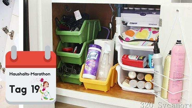 Der Platz unter der Spüle gehört in den meisten Haushalten zu den Bereichen in der Küche, die am wenigsten sinnvoll genutzt werden. Ein paar Tricks... ✓
