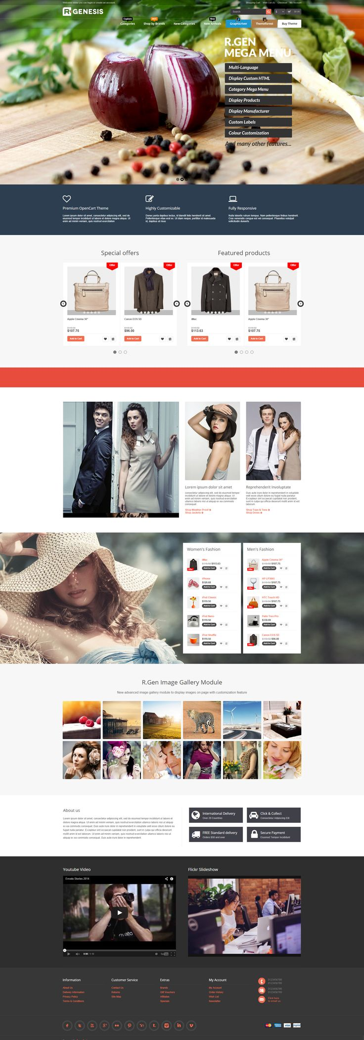 R.Gen - OpenCart Modern Store Design OpenCart premium theme