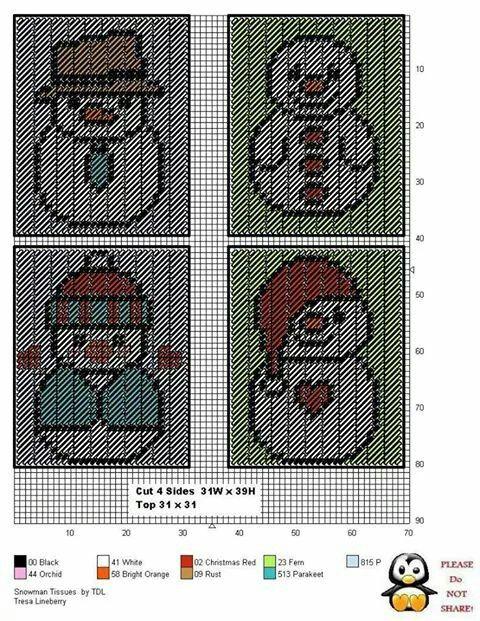 1000 ideas about tissue box holder on pinterest tissue for Snowman pocket tissues