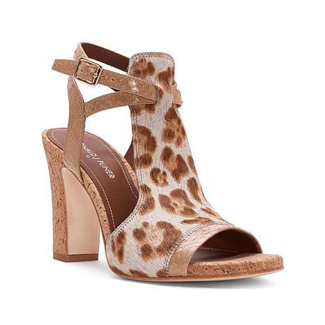 Donald J. Pliner Tinna Ankle Wrap Block Heel Sandal - 8353628 | HSN
