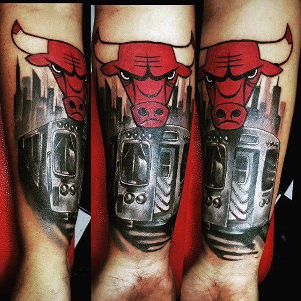 50 Chicago Bulls Tattoo Designs Fur Manner Basketball Tinte Ideen Mann Stil Tattoo Stier Tattoos Chicago Skyline Tattoo Chicago Tattoo