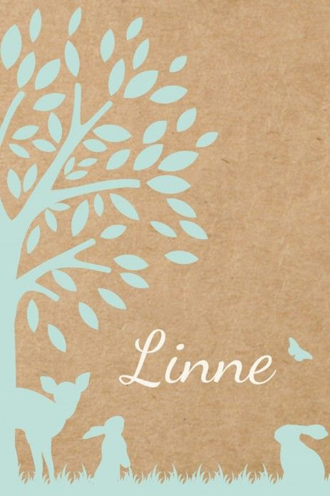 Geboortekaartje Linne dubbel voor