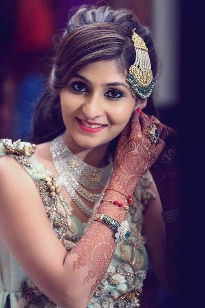 Mehndi Hairstyles With Jhumar : Best images about wedding style on pinterest punjabi