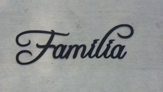 Familia Spanish Word For Family Decorative by