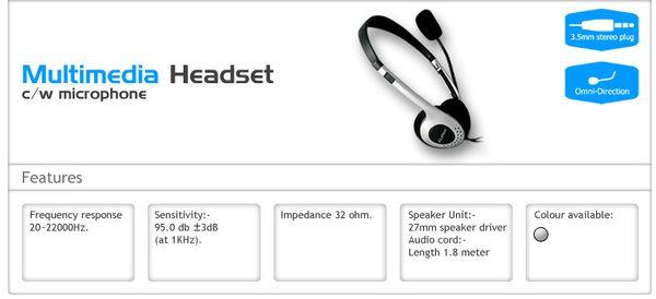 CLiPtec Multimedia Headset c/w Mic BMH010 -- hanya Rp. 29.000,-