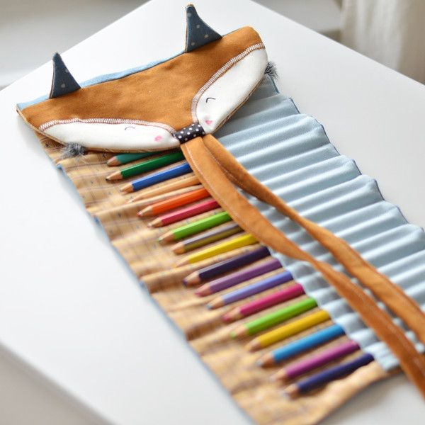 Children's Accessories – Roll up pencil case - fox – a unique product by Lady-Stump on DaWanda