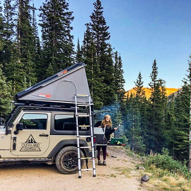 2door Jeep Camper rental with rooftop tent and overland