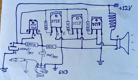 3Transistors Amplifier D718 Circuit | Diy amplifier, Audio ...