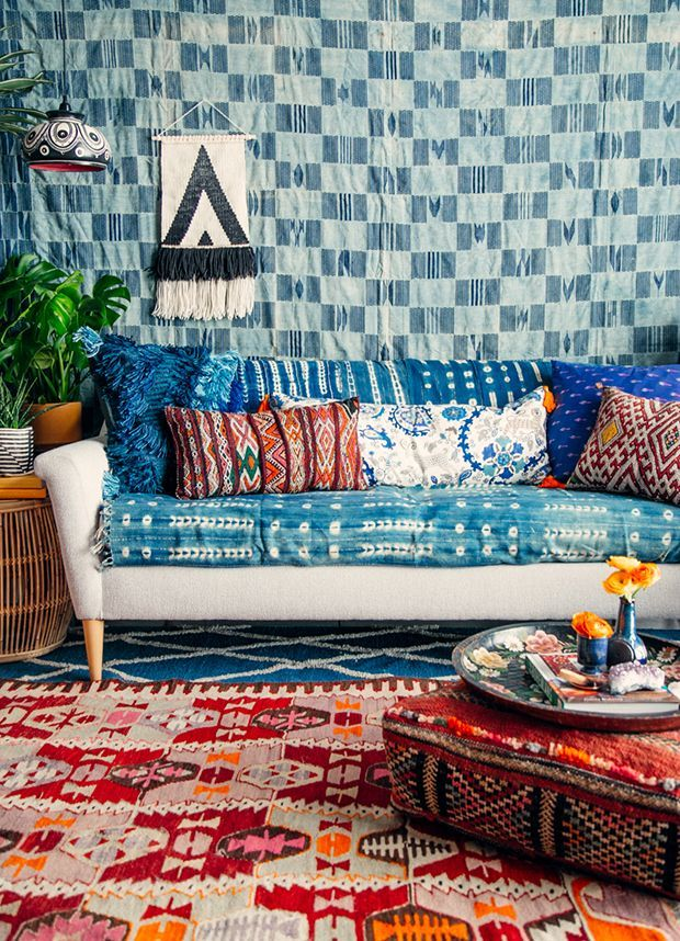 If you love the boho look but aren't certain how to pull it off, have we got the post for you! Here, the inimitable (yet oft-imitated) @justinablakeney breaks down the 10 essential pieces for styling a boho home — all of which, naturally, are available on Etsy. #etsyhome