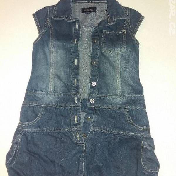 Dívčí džínové šaty vel.116 z bazaru