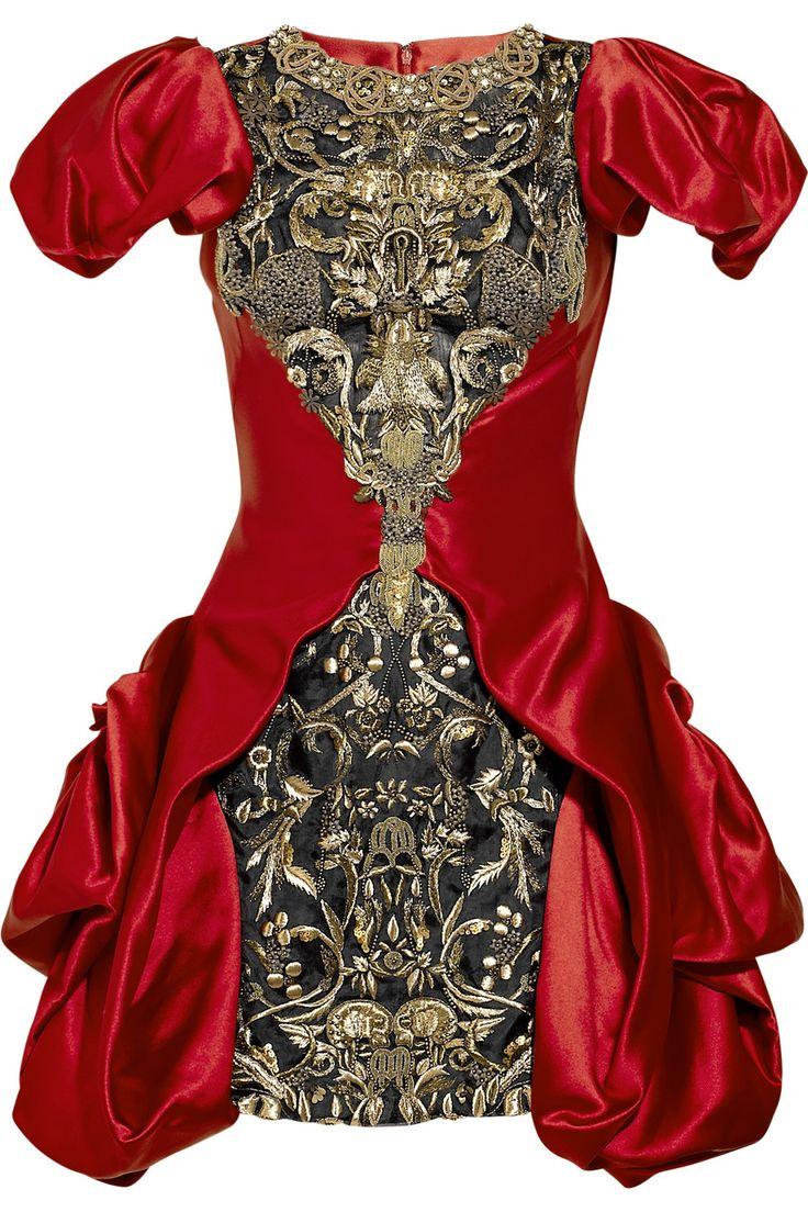 Alexander McQueen  Embellished silk-satin dress. my favourite dress ever