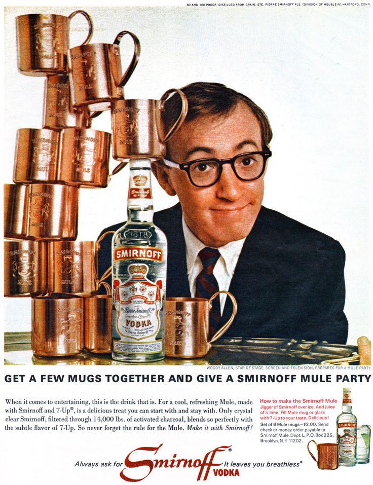 Woody Allen/Smirnoff ▪ Moscow Mule ad (1966)