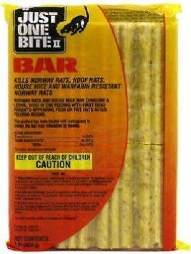 Farnam Just One Bite II Bar 16 Oz Kill Rats & Mice Pest Control Chew Potent #FARNAMHOMEGARDEN